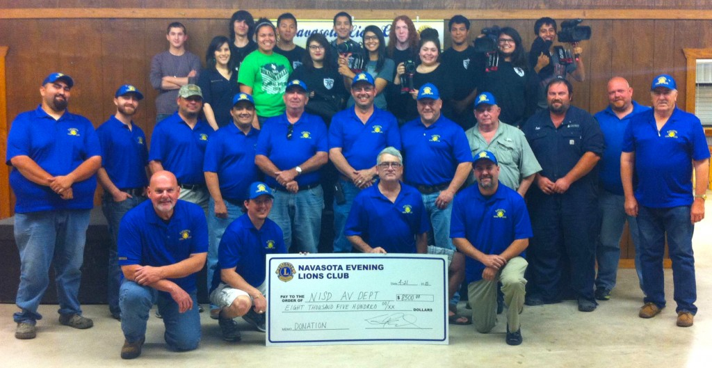 Navasota Evening Lion's Club AV Donation